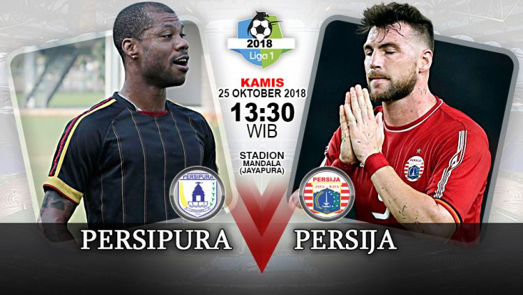 Pertandingan Persipura Jayapura vs Persija Jakarta. Copyright: © Indosport.com