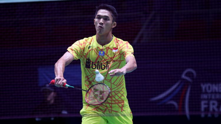 Jadwal pertandingan Australian Open 2019 pada hari Jumat (7/6/19) ini memperlihatkan pertemuan antara wakil Indonesia, Jonatan Christie kontra Lin Dan (China). Copyright: © Humas PBSI