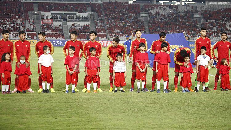 Timnas Indonesia U-19 jelang melawan UEA U-19. Copyright: © Herry Ibrahim/INDOSPORT
