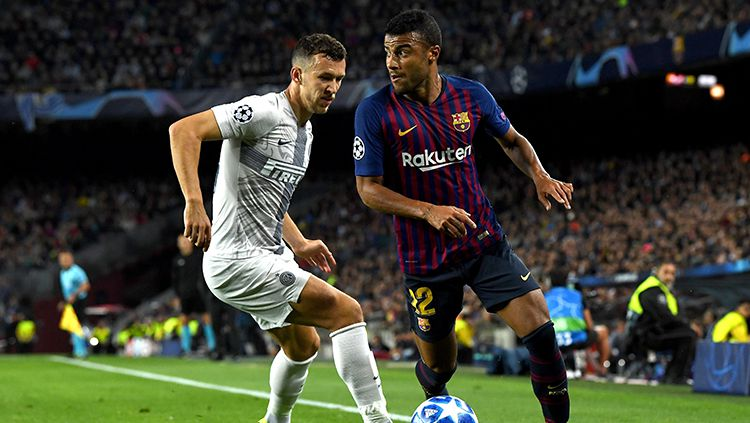 Rafinha Alcantara (kanan) gelandang serang Barcelona. Copyright: © Getty Images/David Ramos