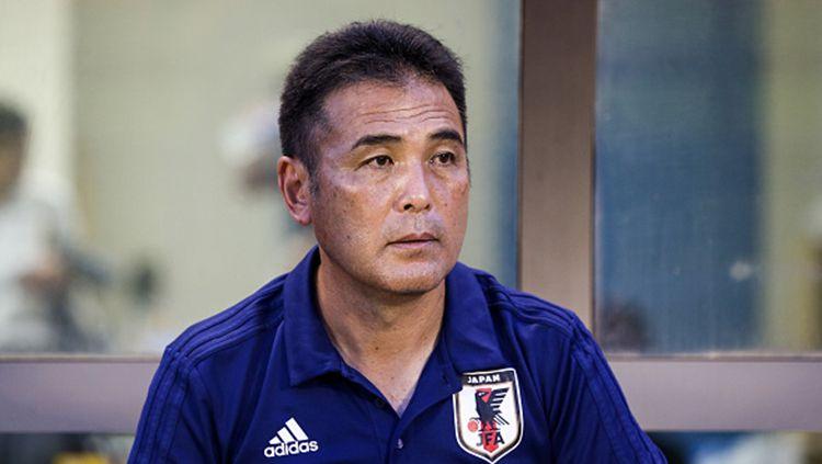 Kageyama Masanaga, pelatih Timnas Jepang U-19. Copyright: © INDOSPORT