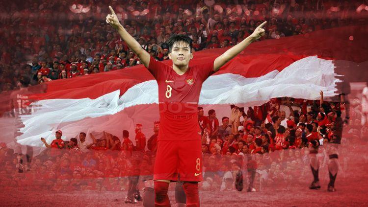 Membayangkan skuat inti Timnas Indonesia U-19 di bawah asuhan pelatih Shin Tae-yong usai kehadiran lima pemain yang merumput di Eropa. Copyright: © Eli Suhaeli/INDOSPORT