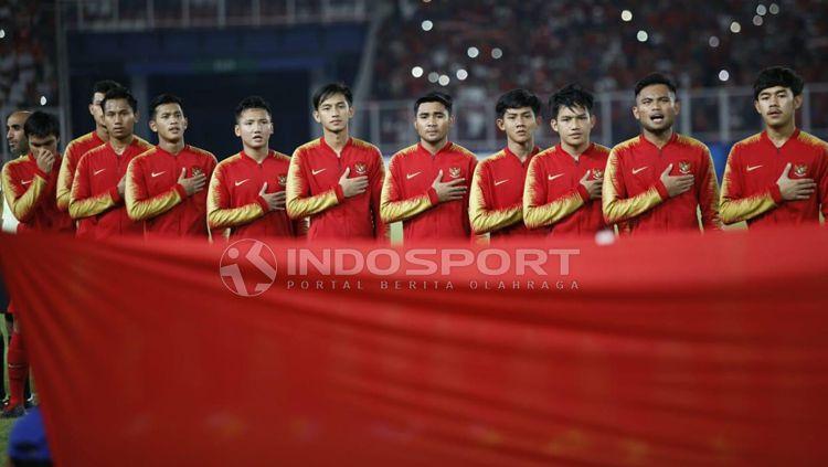 Timnas Indonesia U-19 pada putaran final Piala Asia U-19 2018. Copyright: © Herry Ibrahim/INDOSPORT