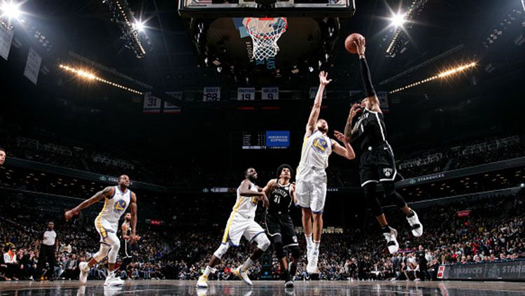 Situasi pertandingan Golden State Warriors v Brooklyn Nets Copyright: © Getty Images