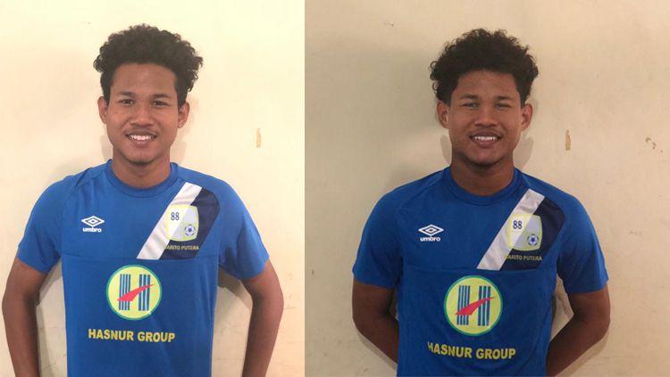 Bagas Kaffa (kiri) dan Bagus Kahfi (kanan) bergabung bersama Barito Putera. Copyright: © twitter/@PSBaritoPutera
