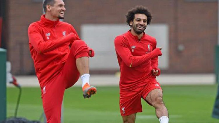 Sejan Lovren dan Mohamed Salah merupakan sahabat baik di Liverpool. Copyright: © Getty Images