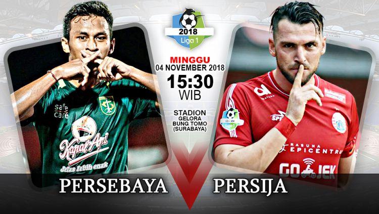 Pertandingan Persebaya Surabaya vs Persija Jakarta. Copyright: © Indosport.com