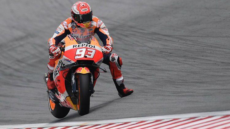 Marc Marquez di sesi latihan bebas MotoGP Malaysia 2018. Copyright: © Twitter/Repsol Honda Team