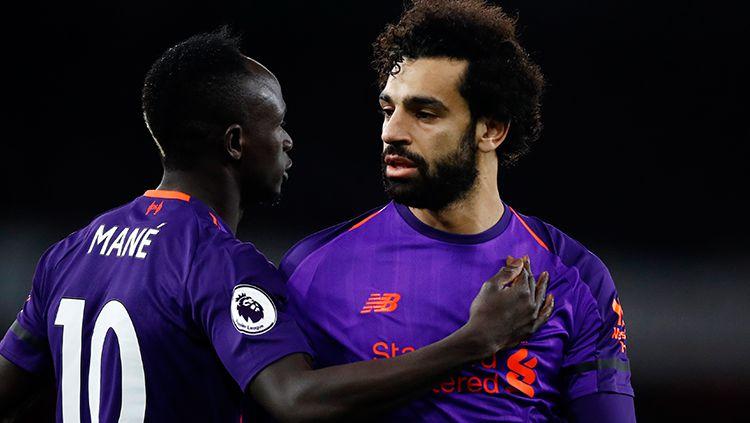 Sadio Mane-Mohamed Salah, dua penyerang Liverpool. Copyright: © Getty Images/Julian Finney