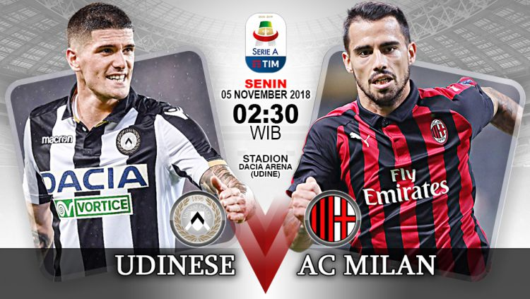 Link Live Streaming Serie A Italia: Udinese vs AC Milan ...