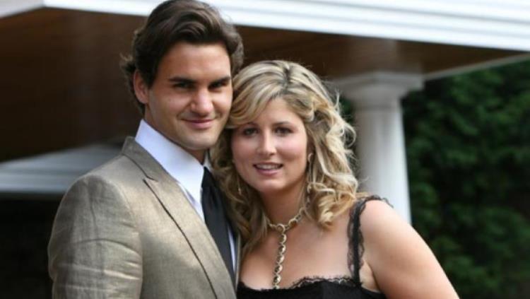 Roger Federer dan istrinya, Mirka. Copyright: © Tennis World USA