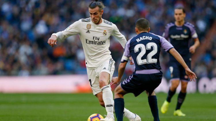 Gareth Bale saat melawan Real Valladolid Copyright: © Getty Images