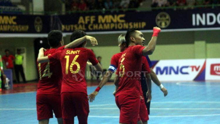 Piala AFF Futsal matchday ketiga antara Indonesia vs Kamboja. Copyright: © Ronald Seger Prabowo/Indosport.com