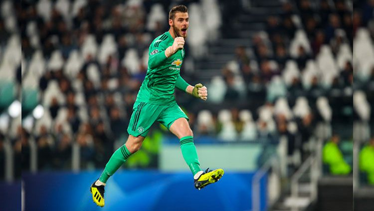 Selebrasi De Gea. Copyright: © Getty Images
