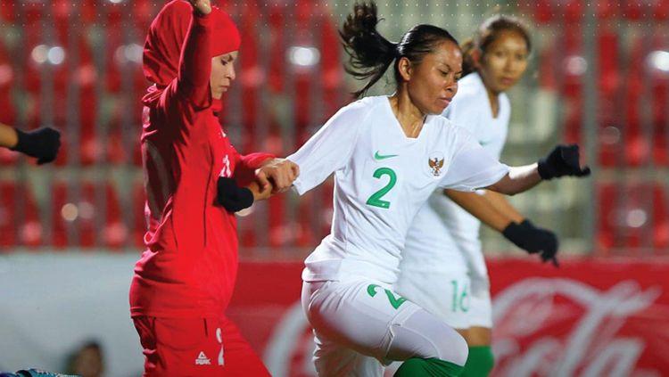 Timnas Putri Indonesia vs Palestina di fase kualifikasi Olimpiade 2022. Copyright: © Twitter.com/AFC