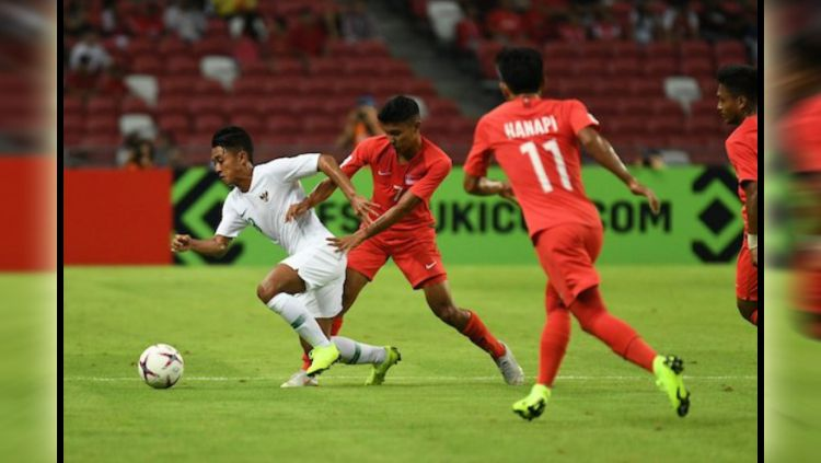 Jalannya laga Singapura vs Timnas Indonesia di Piala AFF 2018. Copyright: © Twitter@affsuzukicup