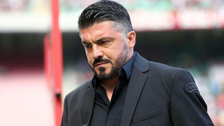 Gennaro Gattuso, pelatih AC Milan. Copyright: © INDOSPORT