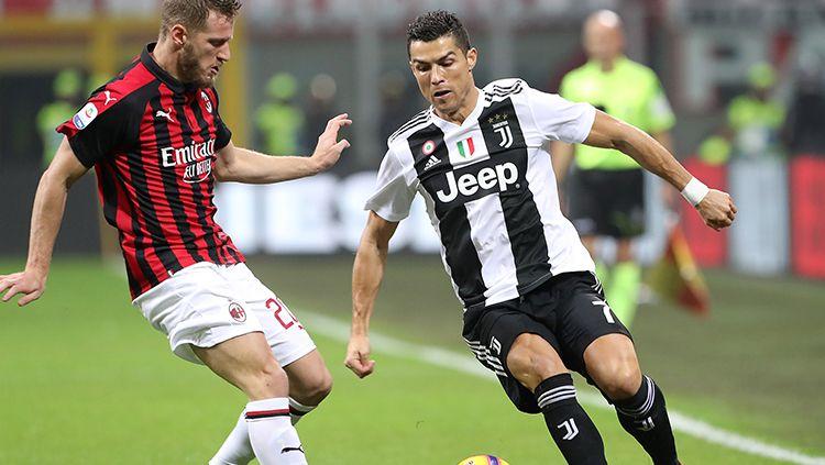 Juventus dan AC Milan bakal alami mimpi terburuk di Serie A Liga Italia gara-gara ancaman FIGC terkait Liga Super Eropa. Copyright: © Marco Luzzani/Getty Images