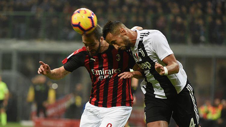 Pertandingan AC Milan menghadapi Juventus di kompetisi Serie A Italia musim lalu. Copyright: © Pier Marco Tacca/Getty Images