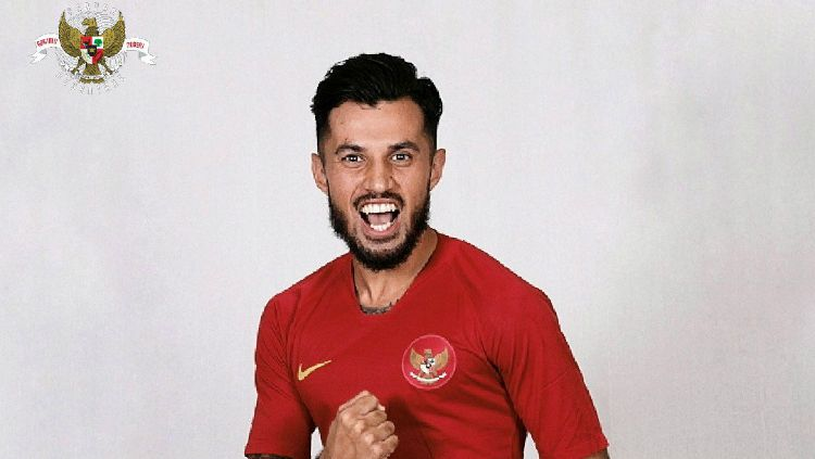 Pemain Timnas Indonesia di Piala AFF 2018, Stefano Lilipaly. Copyright: © Twitter/PSSI