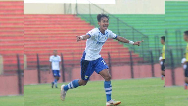 Pemain Persib Bandung U-19 Beckham Putra Nugraha. Copyright: © persib.co.id