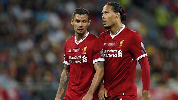Dejan Lovren dan Virgil van Dijk, bek Liverpool. Copyright: © Getty Images