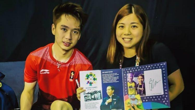 Pemain putri Macau, Ng Weng Chi, yang ngefans berat dengan Kevin Sanjaya. Copyright: © Instagram/Ng Weng Chi