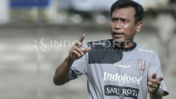 Pelatih Bali United, Widodo C. Putro. Copyright: © Fitra Herdian/INDOSPORT