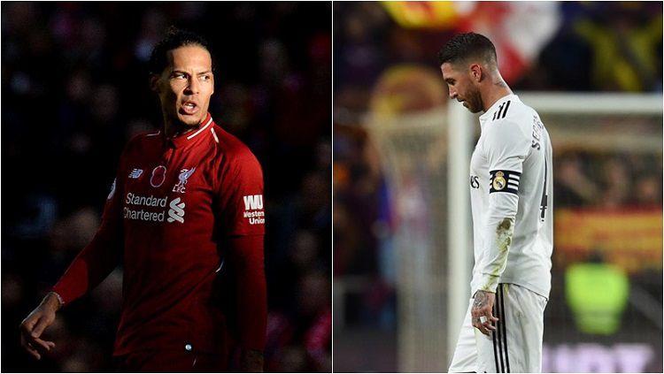 Van Dijk menyindir Ramos dengan mengatakan bahwa ia bukanlah bek terbaik Copyright: © Corriere dello Sport
