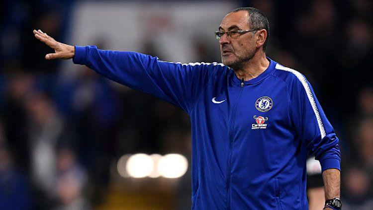 Maurizio Sarri, pelatih Chelsea. Copyright: © Getty Images