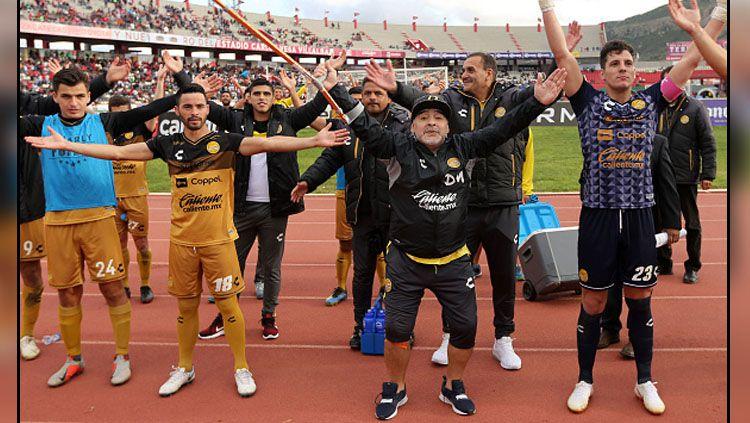 Diego Maradona, pelatih Dorados. Copyright: © Getty Images