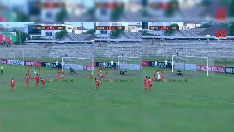 Pemain PSMP Mojokerto gagal mengeksekusi penalty Copyright: © Istimewa