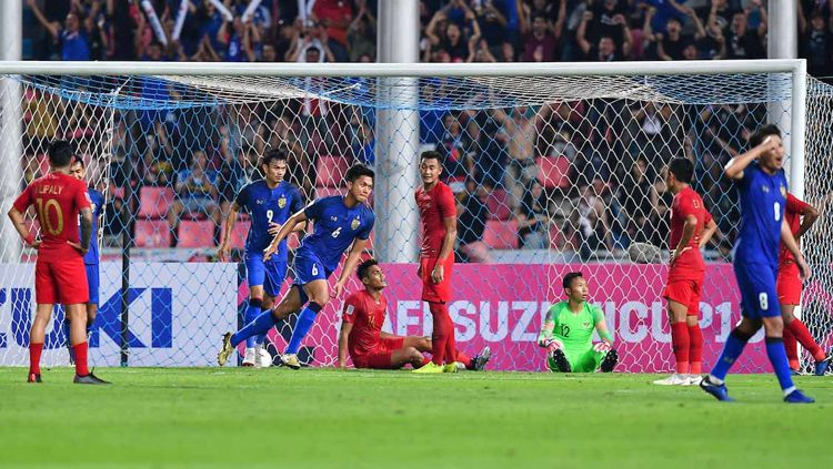 Timnas Indonesia kalah dari Thailand dengan skor 4-2. Copyright: © www.affsuzukicup.com