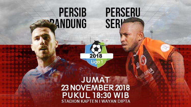 Pertandingan Persib Bandung vs Perseru Serui alami perubahan jadwal. Copyright: © INDOSPORT