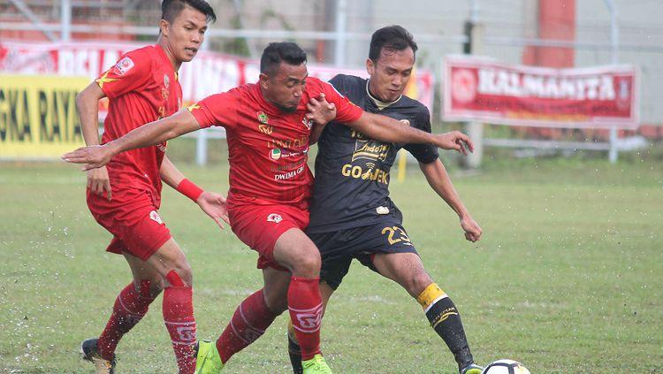 Kalteng Putra vs PSS Sleman. Copyright: © pbs.twimg.com