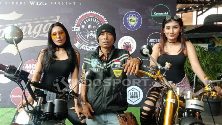 Budiyanto, Ketua Umum Komunitas Kawasaki Retro Riders W175. Copyright: © Shintya Maharani/INDOSPORT