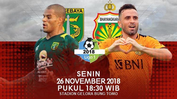 Prediksi pertandingan Persebaya Surabaya vs Bhayangkara FC Copyright: © INDOSPORT
