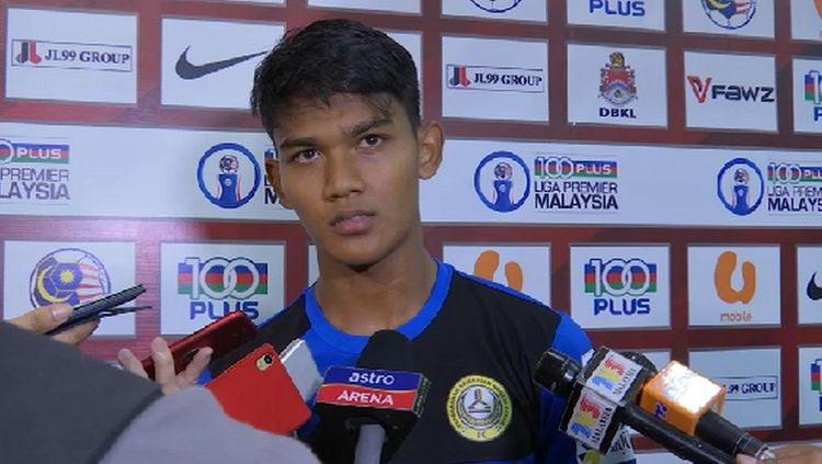 Shahrel Fikri Md. Fauzi, striker Timnas Malaysia yang bermain di Liga Thailand Copyright: © Astro