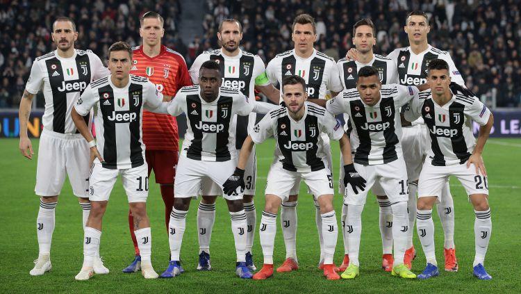 Skuat Juventus di laga melawan Valencia. Copyright: © Getty Images