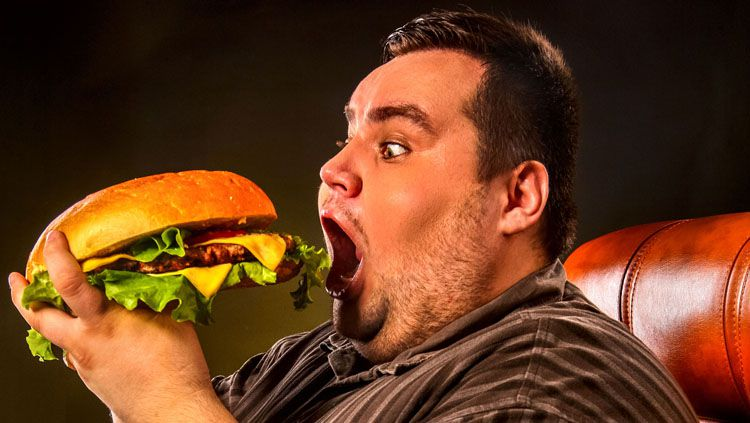 Ilustrasi orang gemuk saat sedang makan. Copyright: © Rocky Mountain Healthy Living