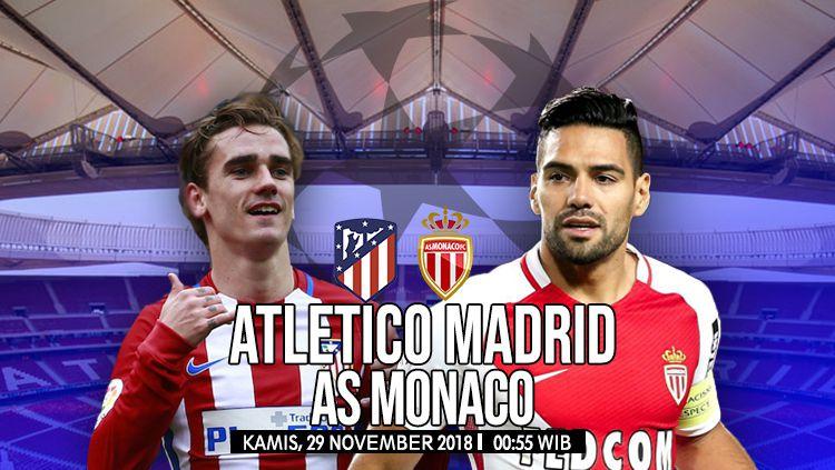 Prediksi Pertandingan Atletico Madrid vs AS Monaco. Copyright: © Fikri/INDOSPORT
