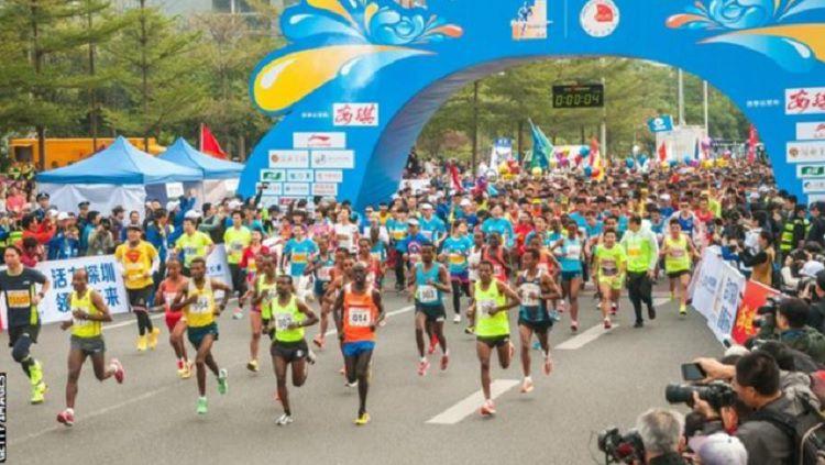 Ilustrasi lomba lari maraton Copyright: © BBC