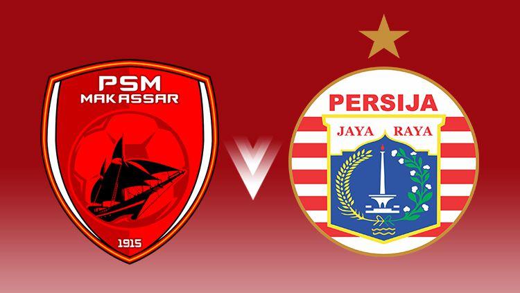 Logo PSM Makassar dan Persija Jakarta. Copyright: © INDOSPORT/Arif Yahya