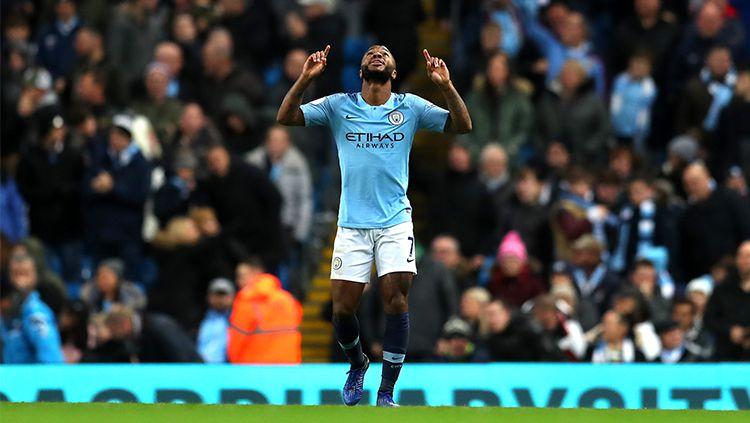 Selebrasi gol Raheem Sterling Copyright: © Getty Images