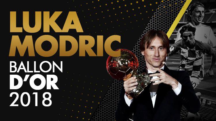Luka Modric pemenang Ballon D'or 2018 Copyright: © INDOSPORT/Eli Suhaeli