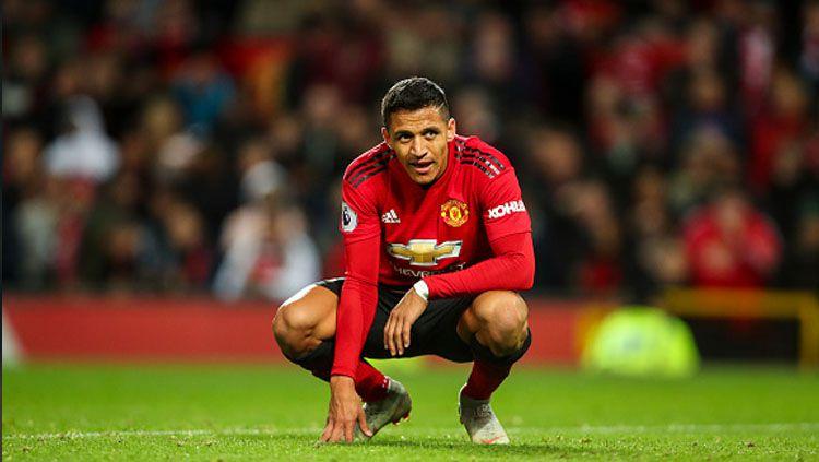 Alexis Sanchez masih terpuruk di Manchester United. Copyright: © Getty Images