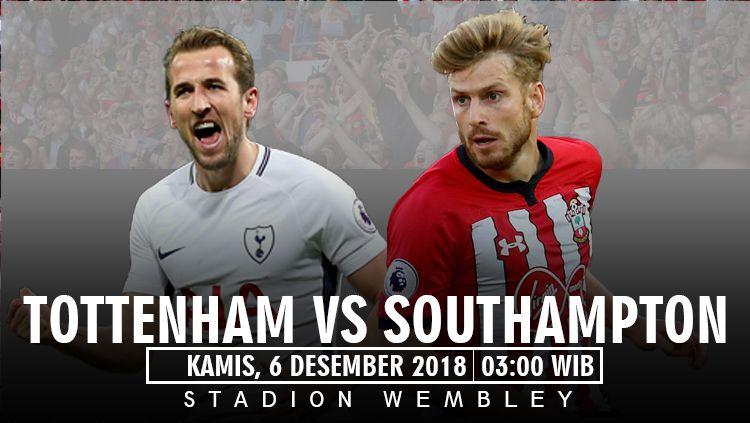 Prediksi pertandingan Tottenham Hotspur VS Southampton. Copyright: © Indosport/AgilMubarok