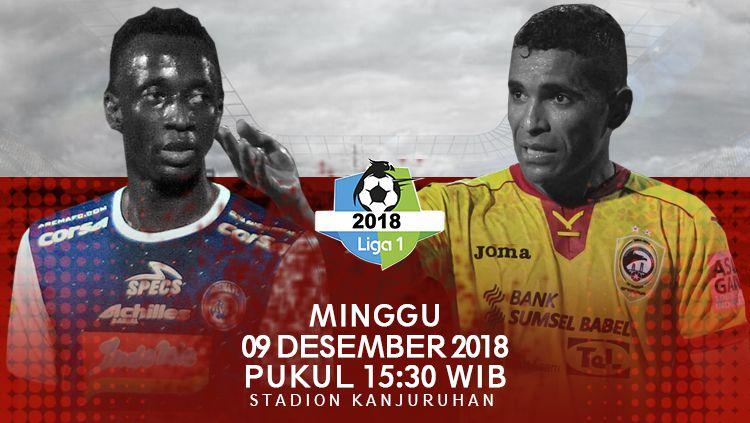 Jadwal Arema FC vs Sriwijaya FC di pekan ke-34. Copyright: © INDOSPORT