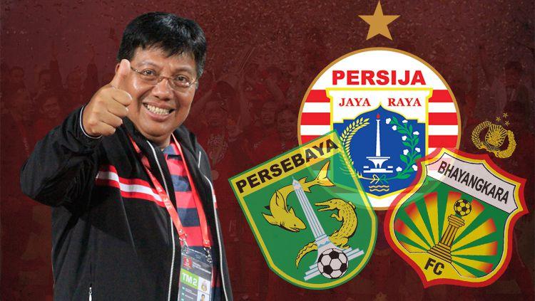Termasuk Persija Jakarta, Ini 3 Klub 'Milik' Gede Widiade yang Sukses: Bhayangkara FC, Persija Jakarta, Persebaya 1927 (IPL) Copyright: © Indosport