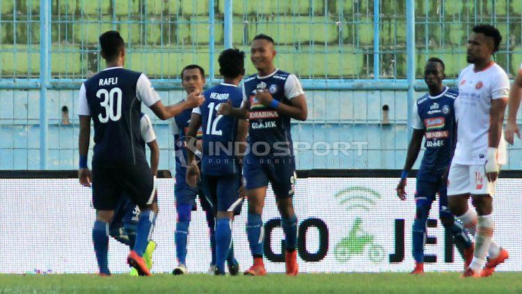 Arema FC di Liga 1 2018. Copyright: © Ian Setiawan/INDOSPORT